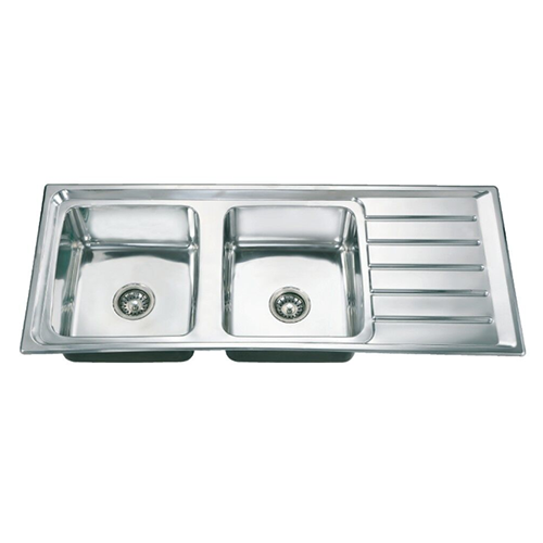 sink-double bowl single drainboard series  DS12050D