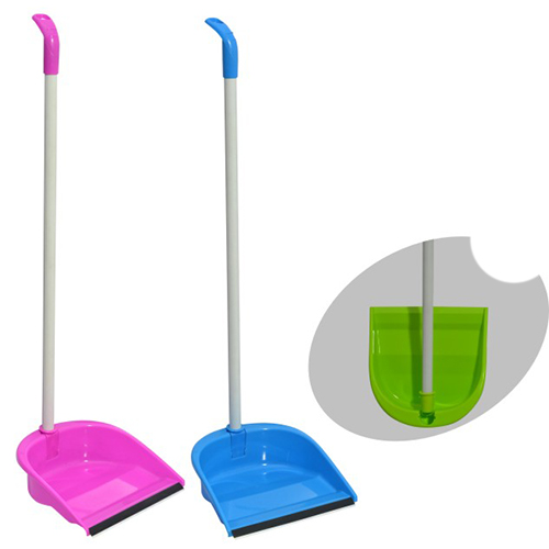 Plastic household dustpan with long handle  kx-608