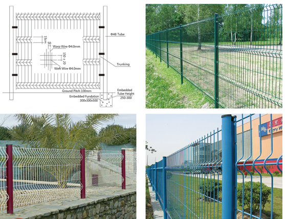 high quality triangle fence mesh   AMH-004