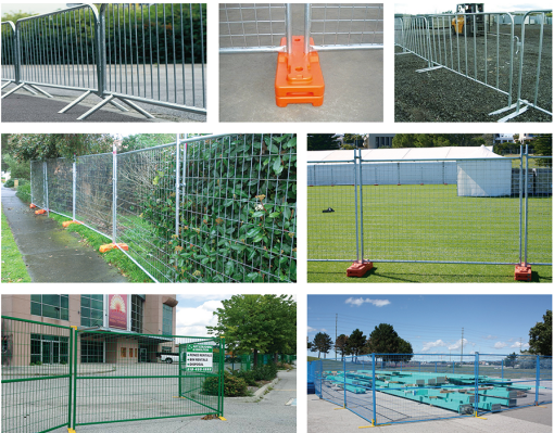 temporary fence and portable construction security fence panel   AMH-005