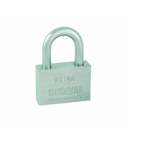 Square type steel padlock with polished chrome finish SS-014A