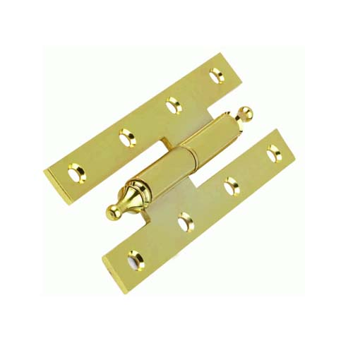 H Shape Assemble Iron Door Hinge With Crown