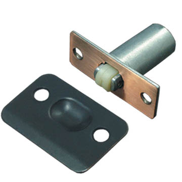Plastic ball cabinet catch with steel plate 110413