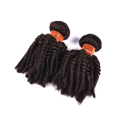Wholesale Distributors 10-24 Inch Color 2# Kinky Curly Virgin Malaysian Hair Weave  JFY-001