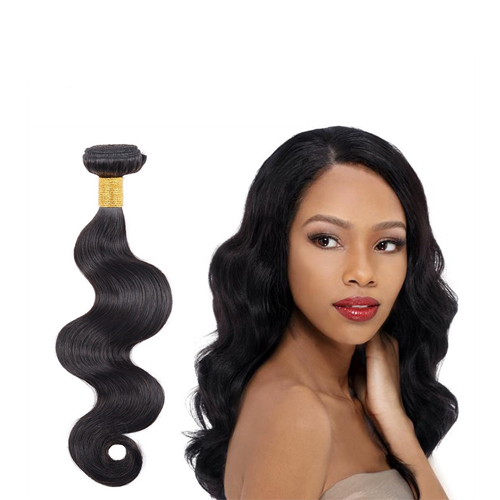 Wholesale Factory Quality Color 1B# Body Wave Cheap Peruvian Human Hair Extension  JFY-005