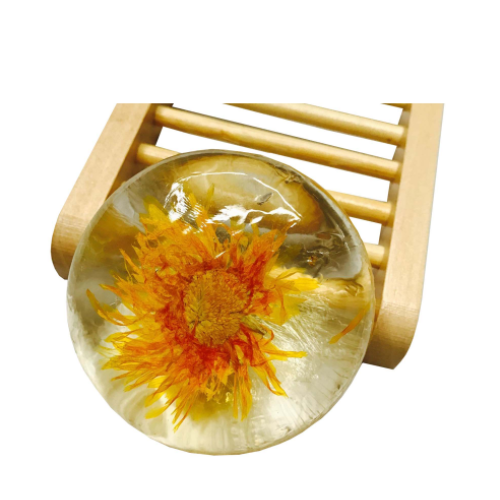 80g Round transparent plant chrysanthemum essence amino acid soap BSJ-ajs-8