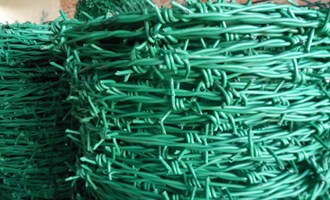 PVC coated barbed iron wire AYW-024