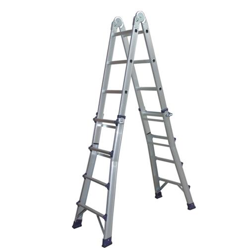 folding extension electric attic aluminum ladder L4X4