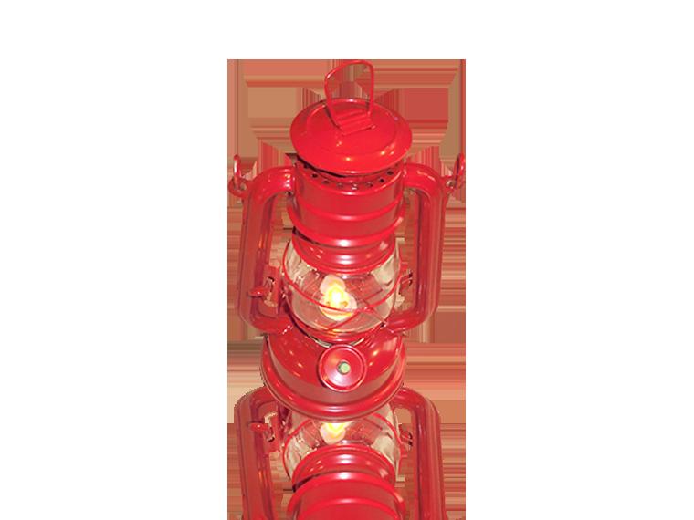 245-1 RED CHANGEABLE BRIGHTNESS LED LANTERN