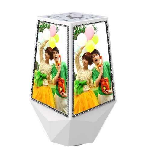 Magic magnetic floating rotating picture frame , wedding favors led cube photo frame YXN-001