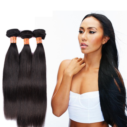 Oversea wholesale Color 1B# 10-26Inch 100 Percent Raw Indian Human Hair Bundle JYF-011