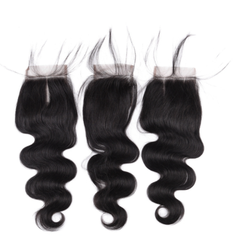 Wholesale hair extensions Indian raw unprocessed virgin remy human hair 360 lace frontal closure JFY-014