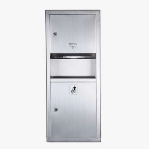 Public Washroom Stainless Steel Paper Towel Combination Units  WS-728E