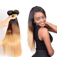 Wholesale Distributors Color 1B/4/27# Virgin Malaysian Straight Human Hair Extension JFY-016