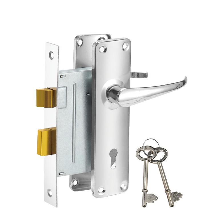 Hot selling hotel security design door handle lock 687-3495-CP