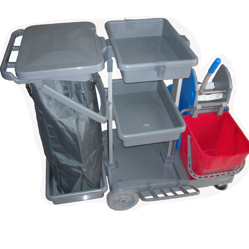 Plastic Cleaning Janitorial Service Cart or Trolley  T602
