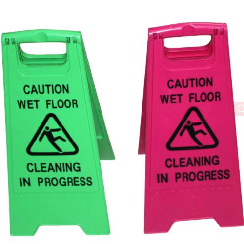 Plastic Wet Caution Floor Sign or Wet Floor Warning Label T210