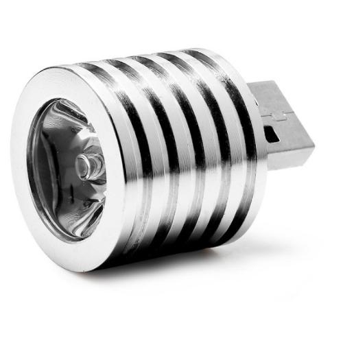 2W Portable Mini USB LED Spotlight Lamp Mobile Power Flashlight XZY-L1026