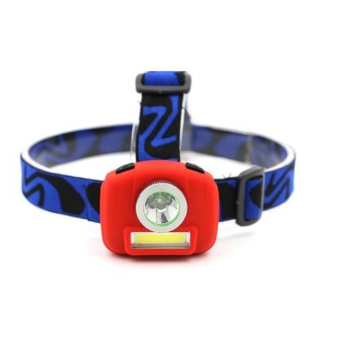 3 modes mini headlight led+cob led light rotate head lamp XZY-H014