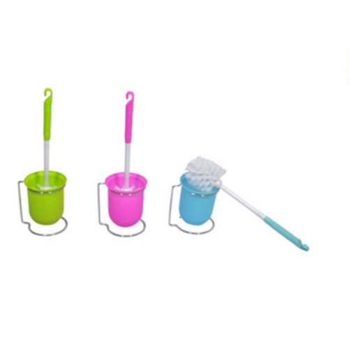 Eco-friendly plastic toilet brush with holder KX-917
