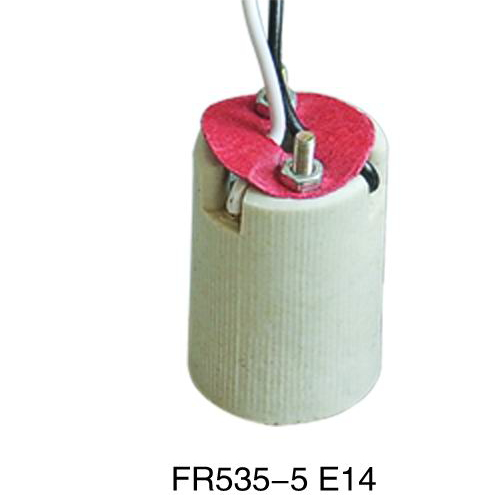CE E14 screw shell lamp holder of india FR535-5