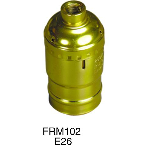 E26 iron plated copper metal lampholder,lamp socket FRM102
