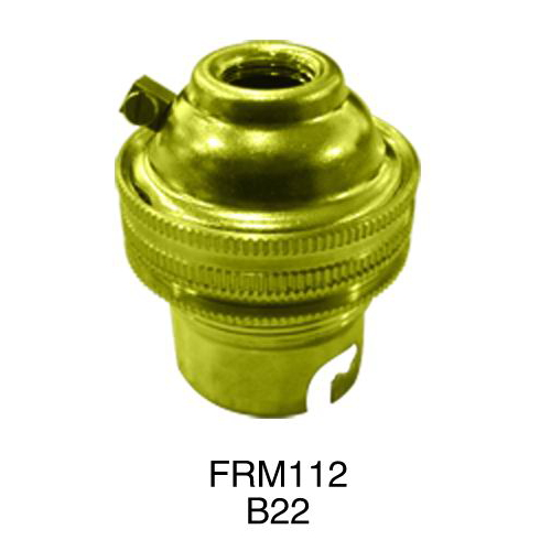 B22 metal shell lamp base FRM112