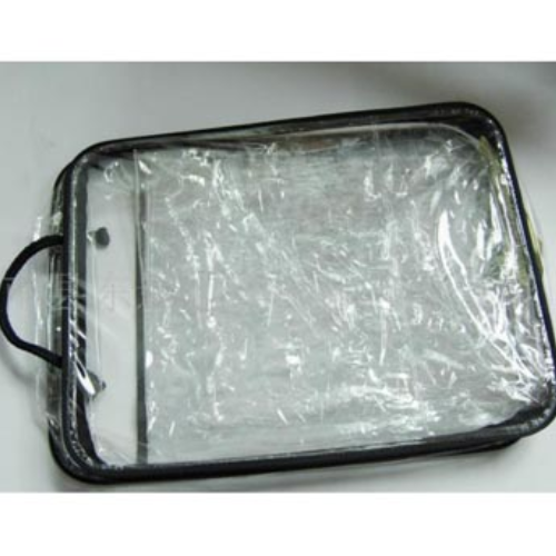 Clear plastic shopping zipper pvc cosmetic bag FS023