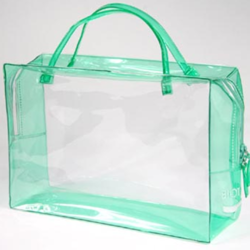 Transparent clear cosmetic bag PVC bag with zipper lock FS026