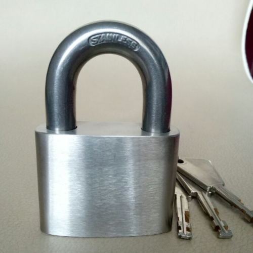 Stainless Steel Square Shape Padlock With Good Quality WRAPP 91