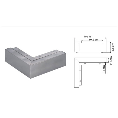 Furniture Parts L Shape Stainless Steel Sofa Leg ABestsupplierscom - Stainless steel table parts