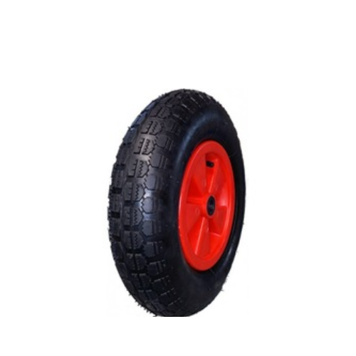 Pneumatic wheel with Plastic rim 4.80 / 4.00-8 4PR TT in 1 part Roller bearings hub 20x75MM   K06