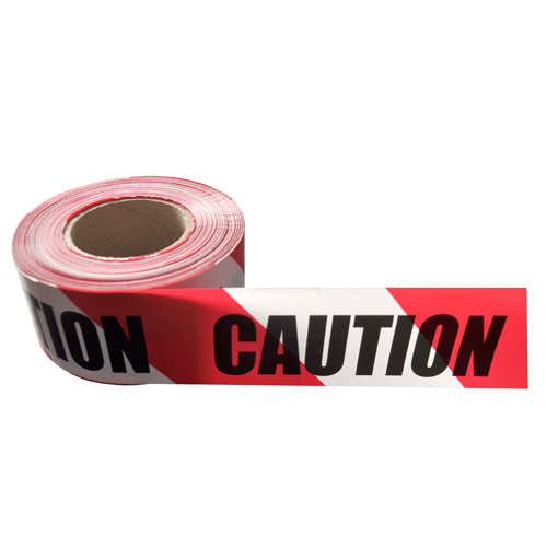 Traffic warning coloured PE material plastic barrier tape XY010