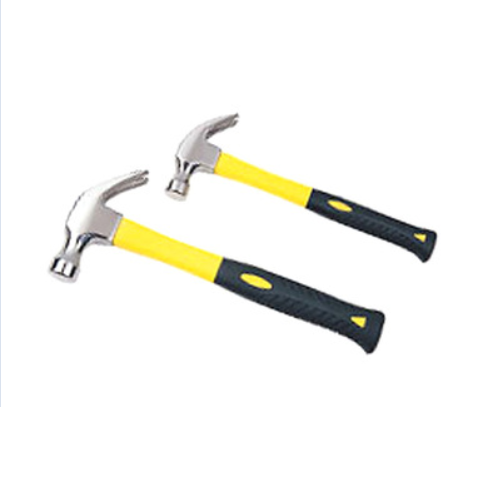 American type claw hammer with fiberglass handle  W44