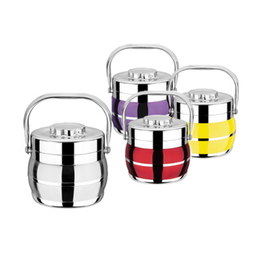 New Item Colorful Metal Handle Stainless Steel Hot Food Containers From China FF7