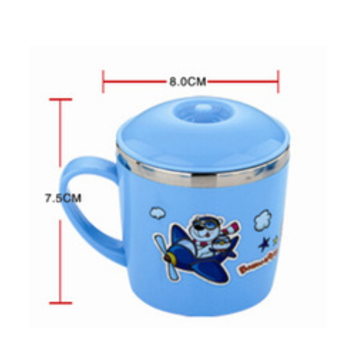 hot sales cartoon colorful kids stainless steel thermal cup with high quality JW03-280ml