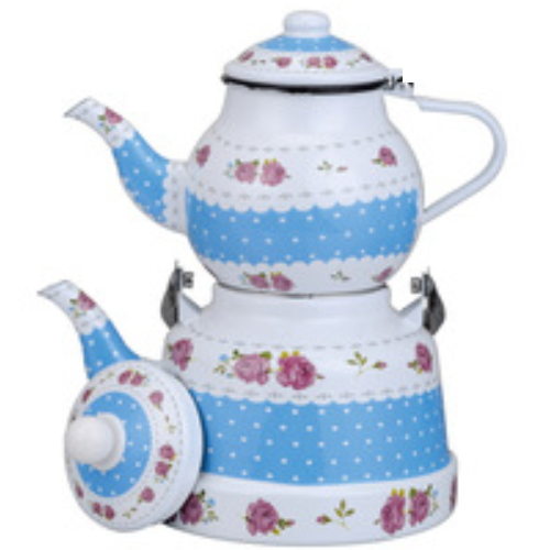 Kitchen Utensil Bell Shape Fat Enamel Kettle TK608