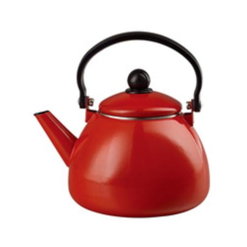 Kettle White Enamel Kettle And Teapot Tea Pots Handle TK103