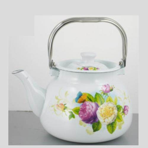 Flanging Enamel Teapot Tea Pot Kettles With SS Handle TK305