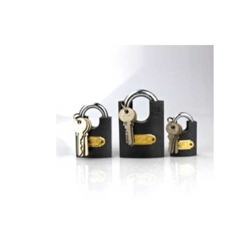 40mm to 70mm half shackle protected padlock   p55