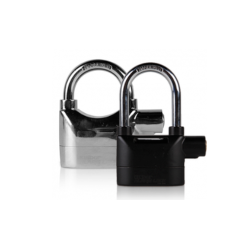 top safety siren alarm padlock with long shackel  P62