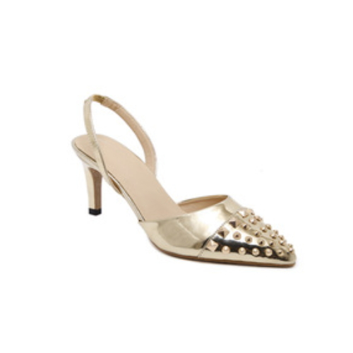 Sexy rivets design pointed toe woman sandals for hot-selling PL1705