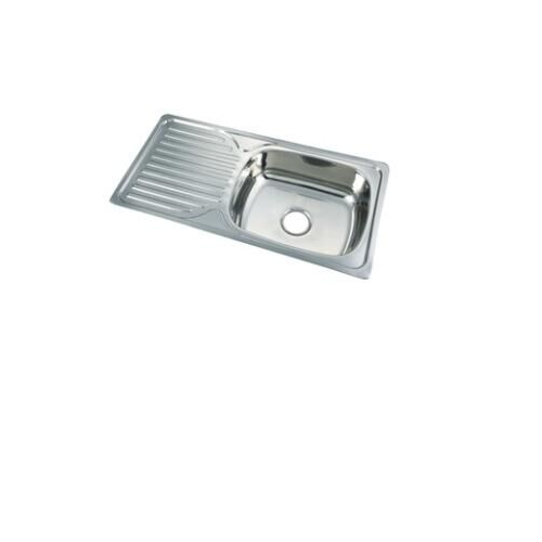 Stainless Steel Single Bowl Single Washing Board Kitchen Sink with 20 Years Warranty Ss 8643