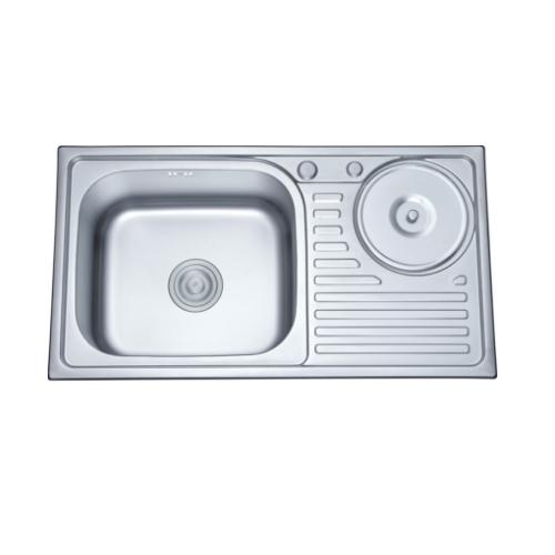 Stainless Steel Fancy Antique Kitchen Sink with Waste-Bin Ss 8245