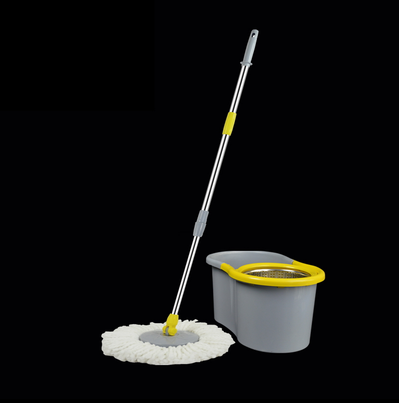 Hand Press Super Easy Clean Assemble Magic Spin Mop with Mop Bucket KD-h16