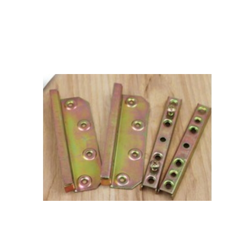Metal bed bracket surface finish with zinc plated eight pcs per set    YLH-26