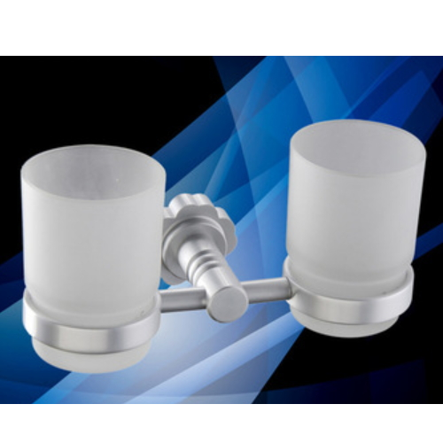 wall mounted bathroom double glass tumbler holder      KD-6010