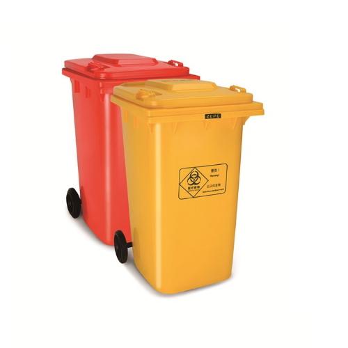 360 liters box plastic dustbin outdoor dustbin plastic two wheels bin en840 certificated MV-360A-1