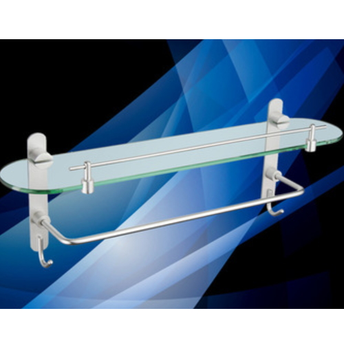 aluminium wall bathroom sanitary shelf with towel bar KD-6113A
