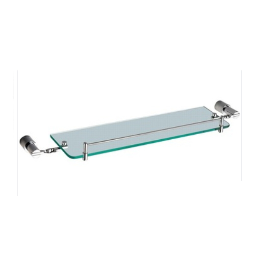 single glass bathroom corner shelf KD-8113